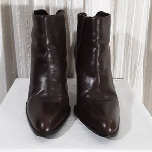 Enzo Angioloni Brown Leather Ankle Boots